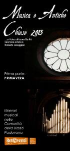 Musica e Antiche Chiese 2013 - primavera
